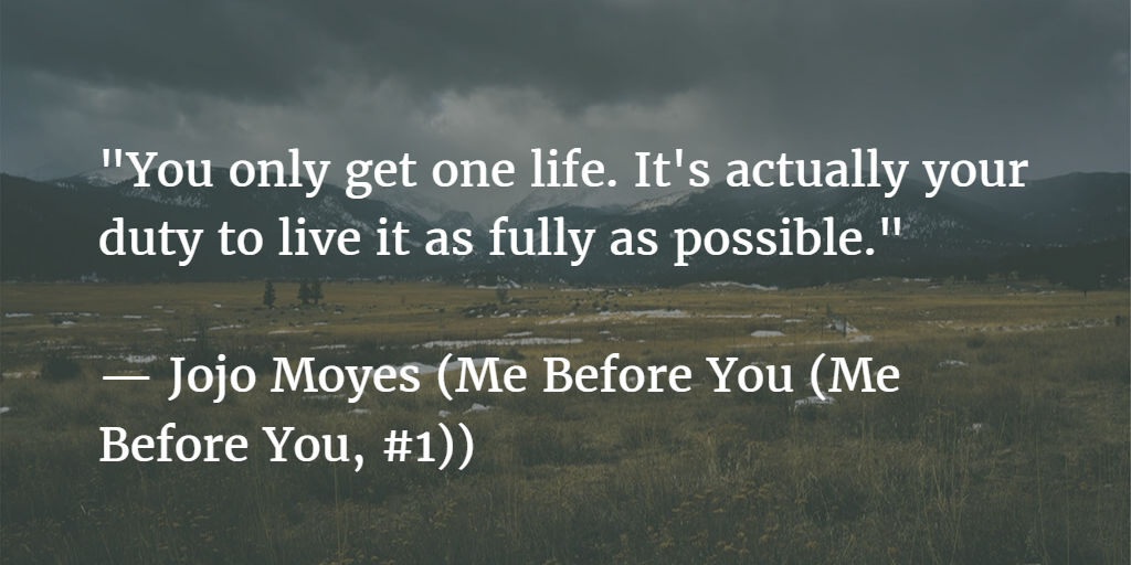 Jojo Moyes Me Before You Quote